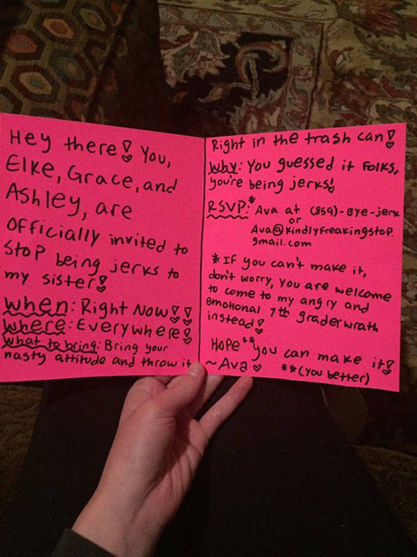This Is How A 12-Year-Old Girl Dealt With Her Little Sister's Bullies