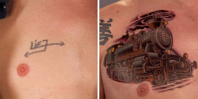 When A Bad Tattoo Is Transformed Into Something Great
