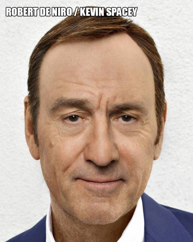 Pictures Showing Celebrity Faces Merged Together