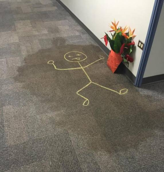There Was Once A Carpet Stain In The Office…
