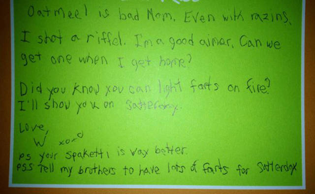 This Boy's Camp Letters To His Mom Are Beyond Words