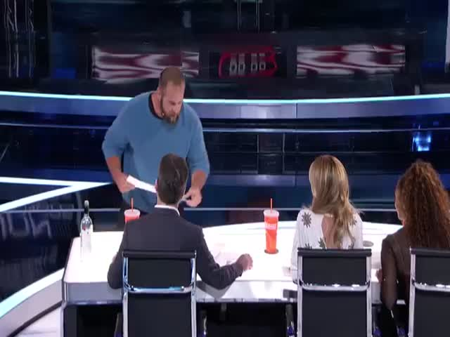 Jon Dorenbos Makes Some Magical Artistic Predictions With The Judges On America's Got Talent