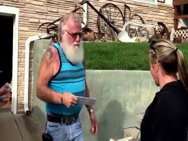 The Greatest Reaction Of Future Grandpa To A Baby Announcement Ever