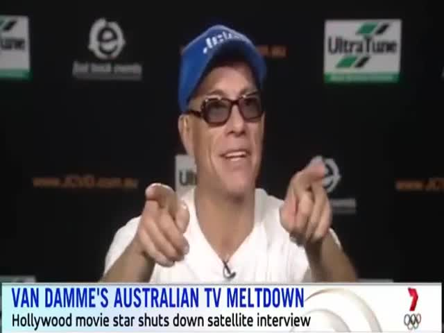 Jean Claude Van Damme Don't Like Boring Questions About Australia