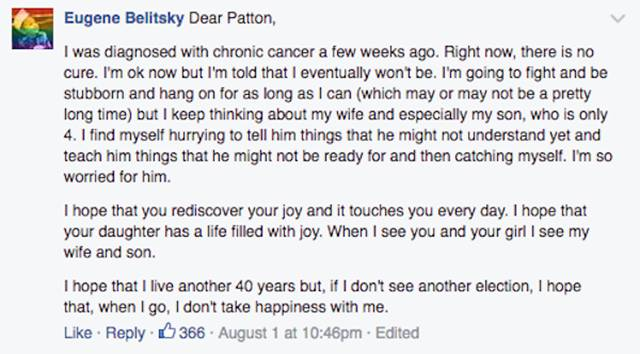 Touching And Powerful Post Of Comedian Patton Oswalt After He Lost His Wife
