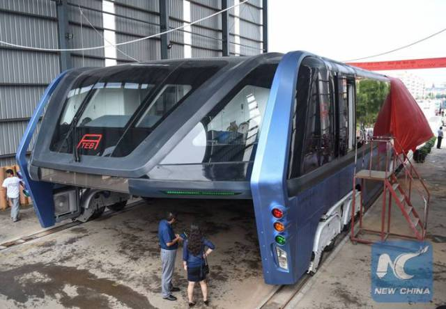 Transit Elevated Bus: The First Test Drive Of China's Futuristic Bus Was A Success