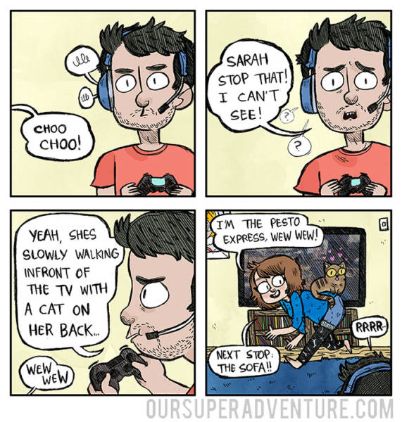 Funny Comic About What A Relationship And What It's Like To Live Together