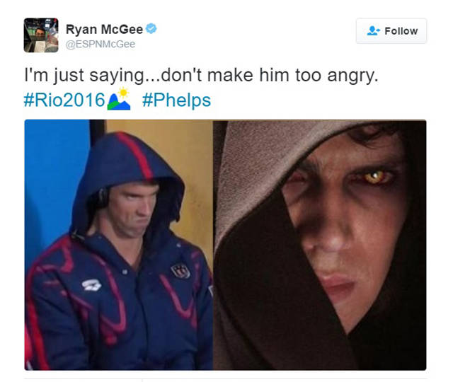 Michael Phelps' Game Face Is A Perfect Meme Material (22 pics + 1