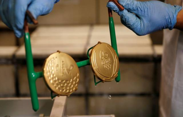 The Process Of Making Olympic Golden Medals