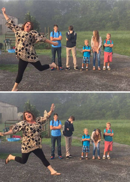 Parents' Reaction To The First  Day Of School
