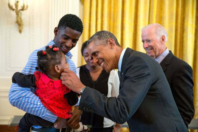 Barack Obama's Goofy Pictures With Kids