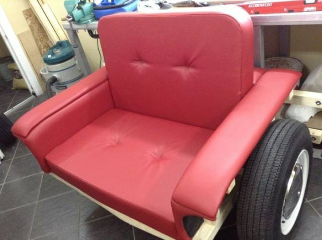 Recycled Old Lada Transformed Into A Cozy Armchair With Working Headlamps