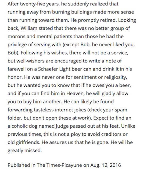 This Man Had A Lot Of Sense Of Humor To Write His Own Obituary Like This