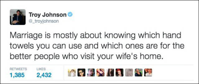 Husbands' Hilarious Tweets About Marriage