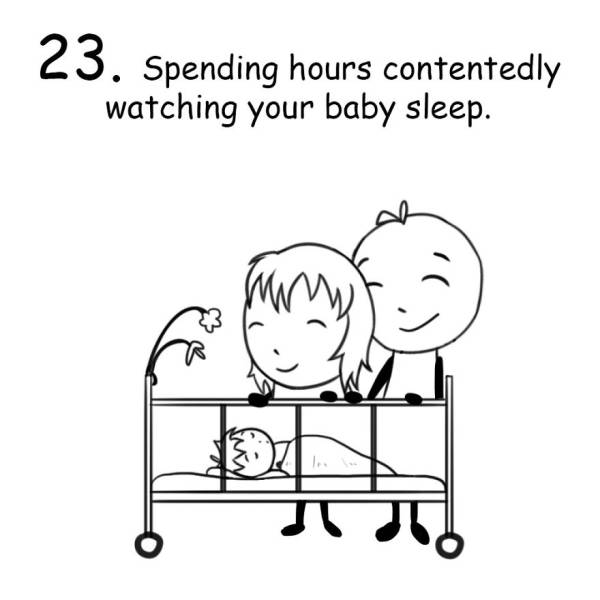 Funny Drawings About Life Of A New Parent