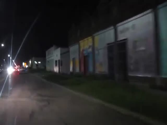 One Of Detroit's Hoods At Night