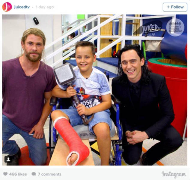 Loki And Thor Visit To Kids At The Hospital And Make Everybody