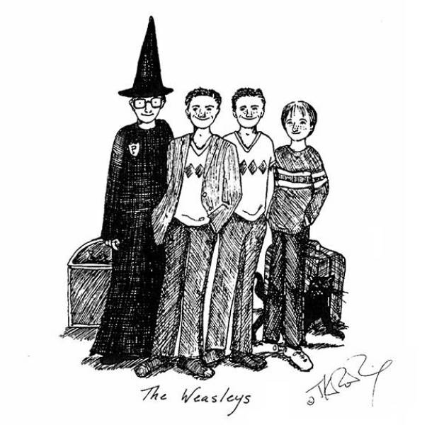 Personal Sketches Of Harry Potter By J.K. Rowling