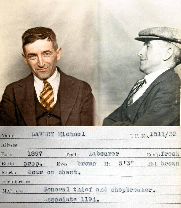 Vintage Mugshots Of Criminals Caught By Scotland Yard