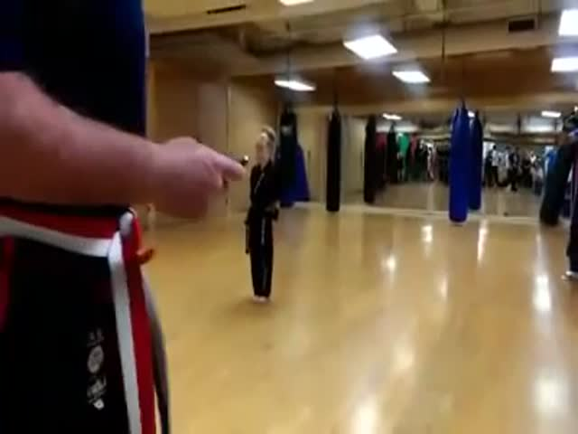 Little Girl Showing Some Kick Ass Skills In Martial Arts