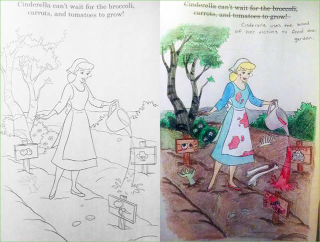 When You Give An Adult A Coloring Book, They Have Some Serious Fun Of Their Own