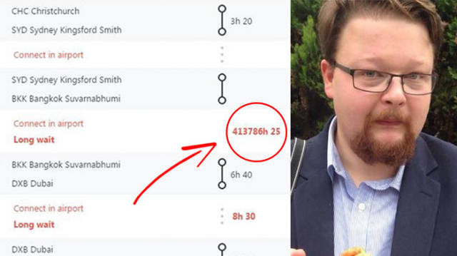 Guy Complained About His 47-Year Flight Connection Wait And Got A Brilliant Response