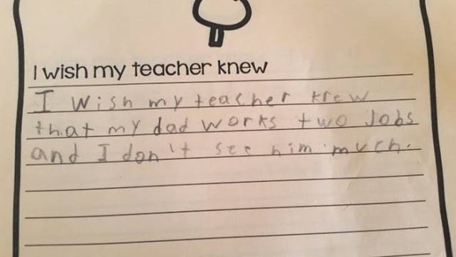 """Children's Answers To """"I Wish My Teacher Knew…"""" Are Heart-Rending"""