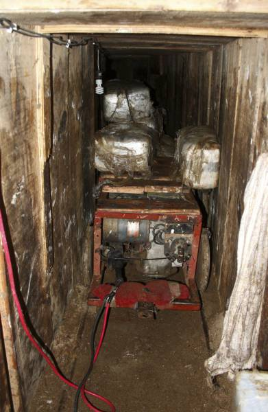 Illegal Tunnel System Of The US-Mexico Border