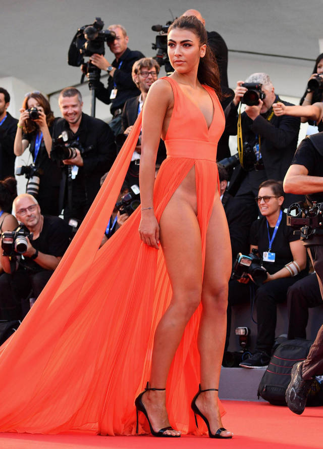 Italian Models' Shocking Outfits At Venice Film Festival Red Carpet