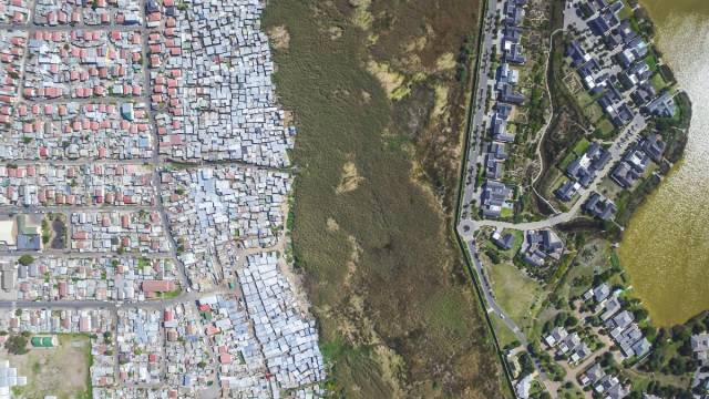 Stunning Drone Photos That Show Separation Of Wealthy And Poor Communities In South Africa