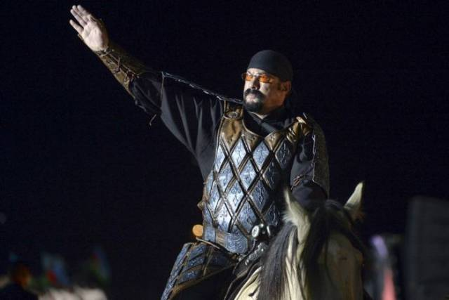 Steven Seagal At The World Nomad Games In Kyrgyzstan