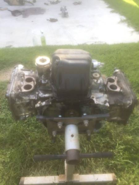 Guy Turns The Engine Of His Wrecked Car Into An Awesome Coffee Table