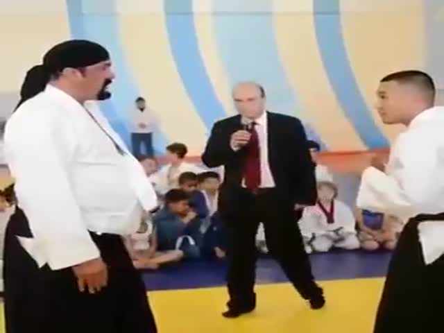 Even With A Beer Belly Steven Seagal Can Still Do Some Serious Ass-Kicking