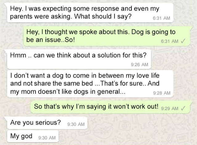 Girl Refuses Arranged Marriage Because Of Her Dog
