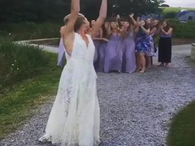When Your Girlfriend Catches The Bridal Bouquet At A Wedding