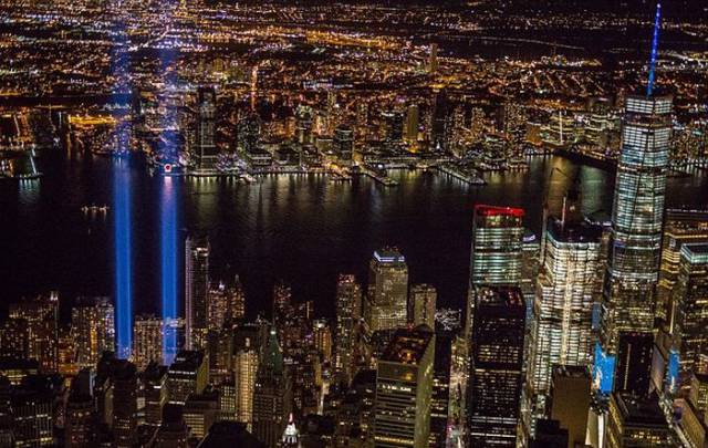 Photographer Notices Something Interesting In The Beams Of The 9/11 Tribute Lights
