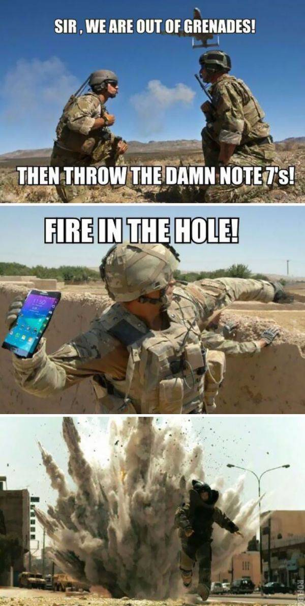 Priceless Reactions In Twitter To The New Samsung Phone Exploding