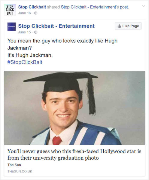 'Stop Click Bait' Posts Will Save You From Disappointments And Will Save Your Time