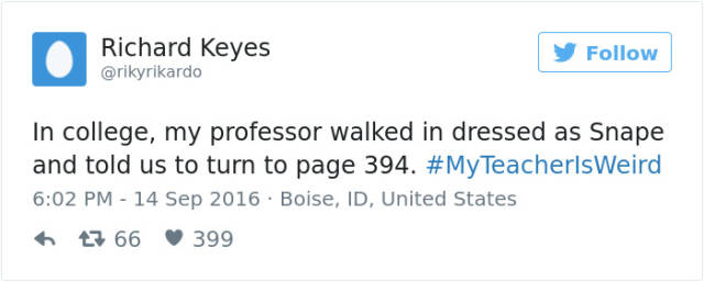 "The Best Of ""My Teacher Is Weird"" Tweets"