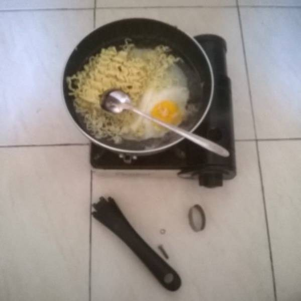 That's Why You Don't Cook When You're Drunk