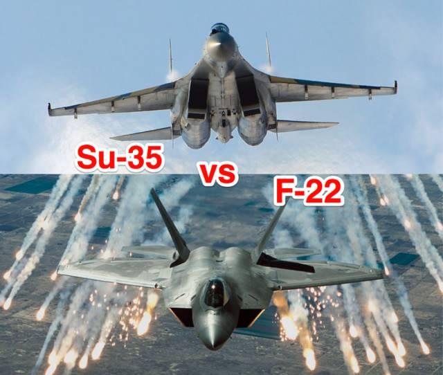 Who Would Win: America's F-22 Stealth Fighter vs Russia's Su-35