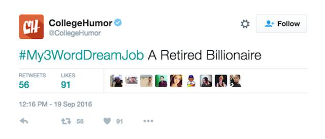 People Confess Their Dream Jobs In Three Words On Twitter