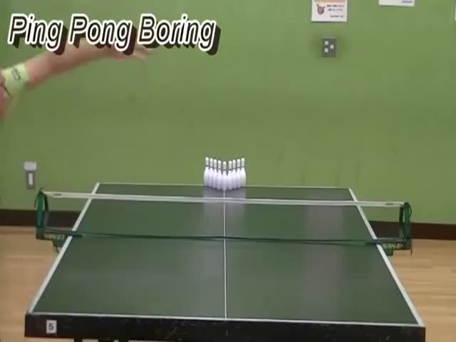 Incredible Ping Pong Trick Shots Perfectly Executed
