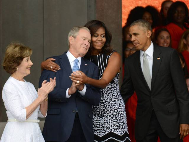 Michelle Obama Hugged George W. Bush, So A Photoshop Battle Ensued