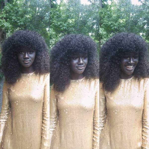 The Skin Of This Senegalese Model Is So Dark It Makes Her Unique in The Whole World