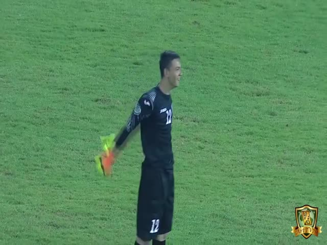 Great Shot By The Uzbek Goalie Ends Up In A Goal vs North Korea