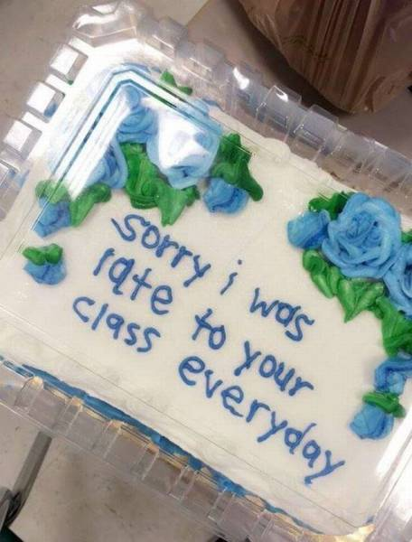 A Thoughtful Student Brings A Special Cake To Her Teacher…