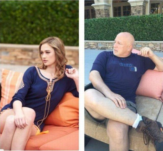 Father Recreates His Daughter's Modeling Photo Session And It's Better Than The Original