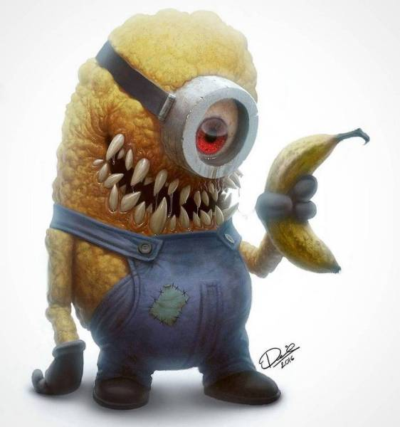Cute Cartoon Characters From Our Childhood Turned Into Terrifying Monsters