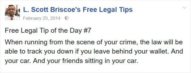 Hilarious Legal Advice From A Lawyer Who's Seen Some Crazy Sh#t